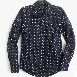J.Crew Perfect shirt in foil dot
